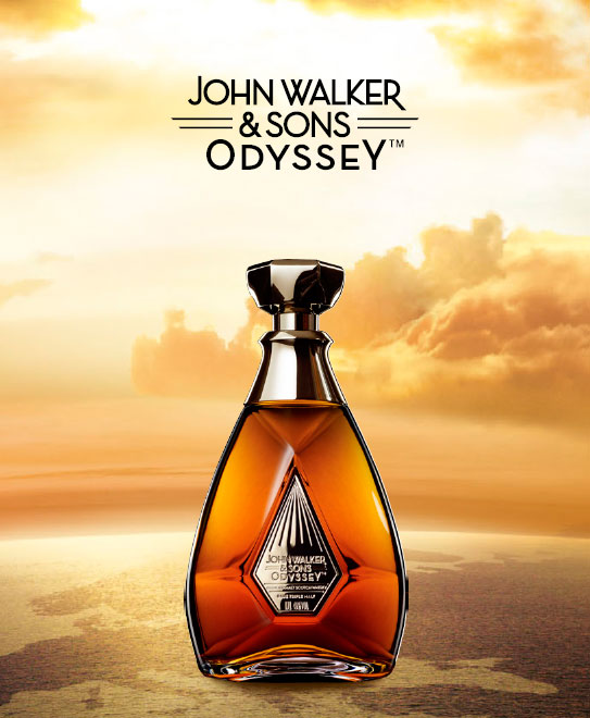 Johnnie Walker Odyssey Whisky Flasche