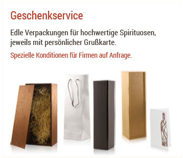 Geschenkservice bei Spirituosentheke.de