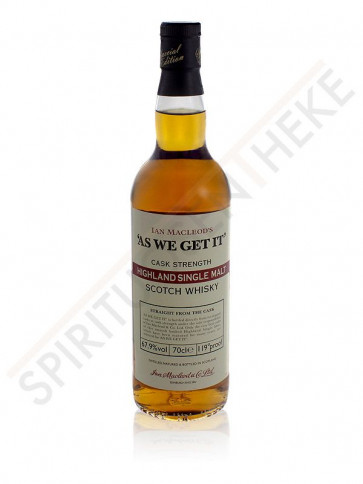 Ian MacLeods Highland Single Malt Cask Strength (Etikett kann abweichen)