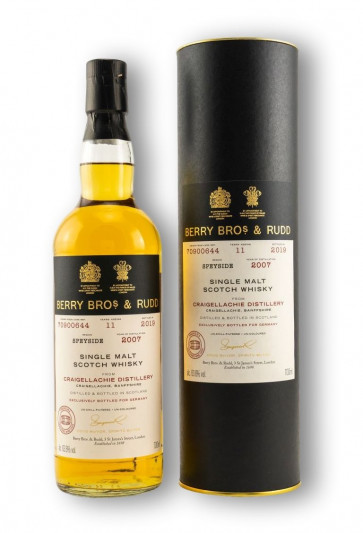 Berry Bros. & Rudd - Craigellachie Single Malt 2007-2019 - Cask # 70900644 Sauternes Finish - 0,7L Fassstärke 63,6% - 2