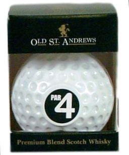 Old St. Andrews Club House Par 4 Golfball - Miniatur 5cl