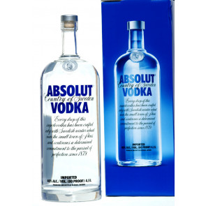Absolut Blue - 4,5L Grossflasche