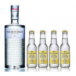 The Botanist Islay Dry Gin aus dem Hause Bruichladdich 1,0L mit 4xFever Tree Tonic 0,2L