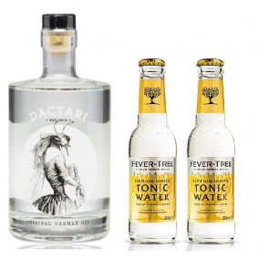 DACTARI Original German Gin 0,5L mit 2x Fever Tree Tonic 0,2L