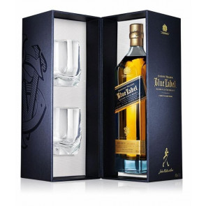 Johnnie Walker Blue Label Crystal Limited Edition 0,7L mit 2 Tumblern