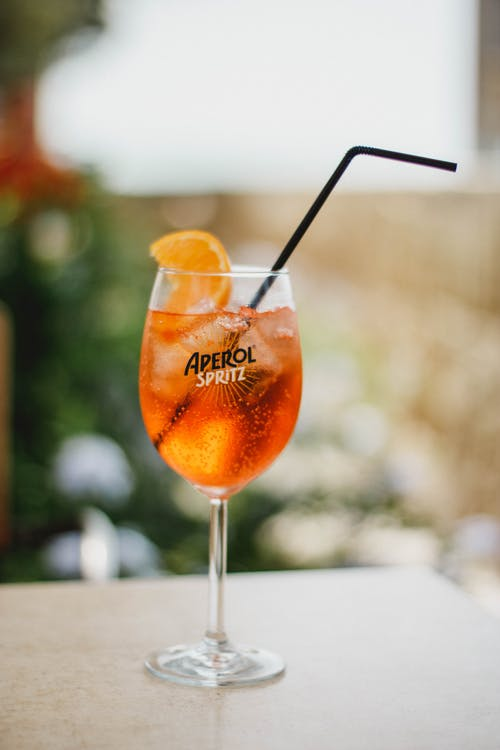Aperol Spritz, Ice, Orange, Drink