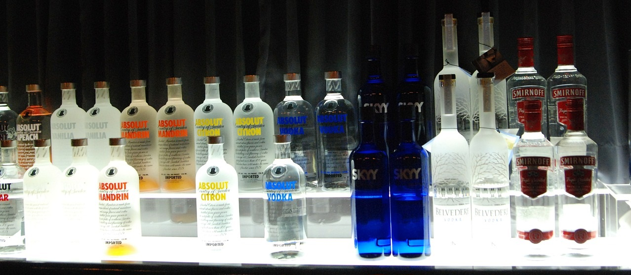 Absolut Vodka, Skyy, Belvedere, Smirnoff